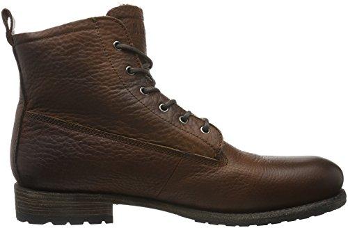 Blackstone Mid Lace Up Boot Pelliccia Gabbiano Herren Chukka Stivali Braun (vecchio Giallo)