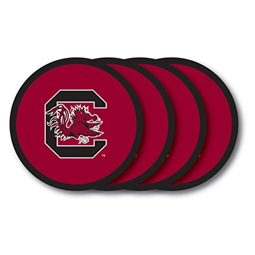 NCAA South Carolina Gamecocks Vinyl Coaster Set (Pack of 4)