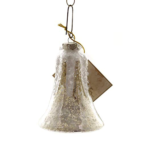 Holiday Ornaments Bell Mercury Large Glass Glass Vintage Style Sn7499 Silver ()
