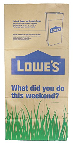 Lowe's 30 Gallon Heavy Duty Brown Paper Lawn and Refuse Bags for Home and Garden (25 Count) by Lowe's (Image #2)