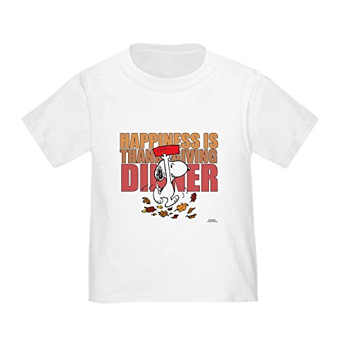 CafePress Peanuts Happiness Thanksgiving Din - Cute Toddler T-Shirt, 100% (Peanuts Thanksgiving Special)