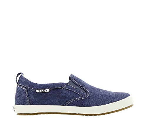 Taos Footwear Women's Dandy Slip On Blue Washed Canvas fast delivery cheap online ay0Ui3BF4
