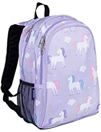 Kids 15 Inch Backpack for Boys and Girls, Perfect Size for Preschool, Kindergarten and Elementary School, 600-Denier Polyester Fabric Backpacks, BPA-free, Olive Kids (Unicorn)