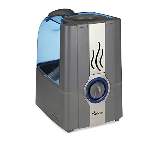 CRANE USA EE-5201GR Slate Blue Warm Mist Humidifier Clean Control, 1 gallon