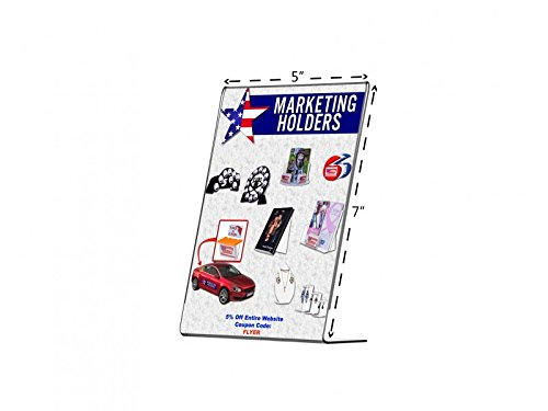 Marketing Holders Slanted Counter Frame Great for Trade Shows Expos Table Ad Literature Flyer Frame 8.5'' w x 11'' h Qty 1