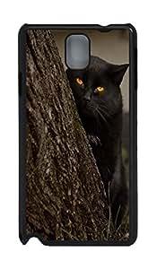 Samsung Note 3 CaseSuspicious Black Cat PC Custom Samsung Note 3 Case Cover Black