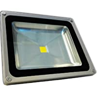 50 Watt LED Waterpoof Outdoor Security Floodlight 100/240V AC Ledwholesalers 3702WH