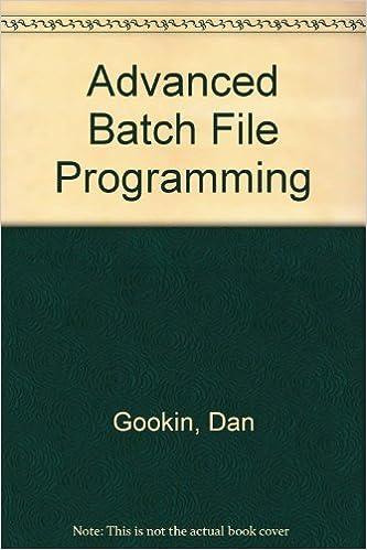 Book batch file programming