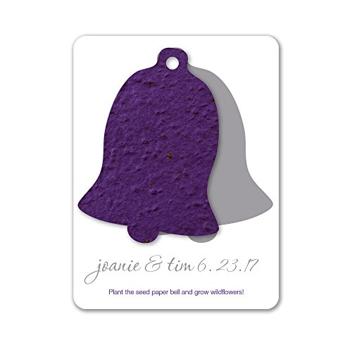 Bloomin Plantable Wedding Bell Wedding Favor with Seed Paper - Violet (25 Card ()