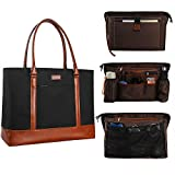 MONSTINA Laptop Tote Bag, 15.6 Inch Laptop Bag for Women Teacher,Large Laptop Organizer Bag,Waterproof Briefcase Shoulder Bag Handbags for Work
