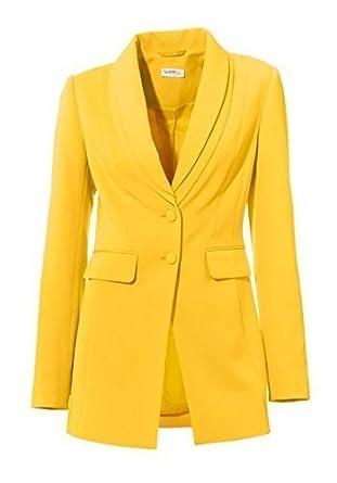 special section new lower prices detailed images Blazer Long Blazer de classe - Jaune, 46: Amazon.fr ...