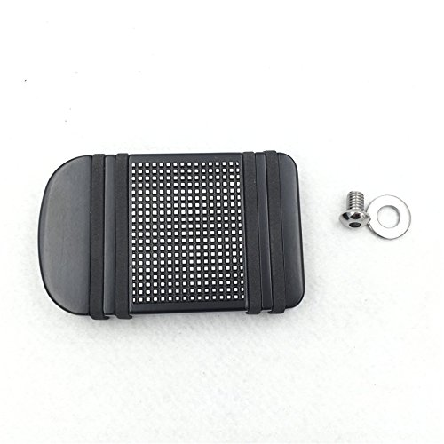 Motorcycle Black Aluminum Edge Cut Brake Pedal Pad Cover For Harley Davidson 2012-later Dyna FLD/1986-later FL Softail/ 1980-later Touring ()