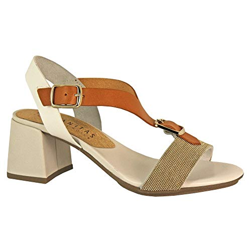 Block White Heeled Sandal Hispanitas 98477 gxzdqgU