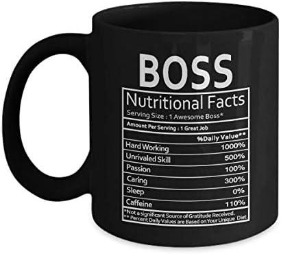 Regalo ingenioso para su jefe información nutricional ni un solo curso de gratitud recibido taza de café - regalo negro para el jefe compañero de trabajo madre padre esposo esposa en el día del trabaj