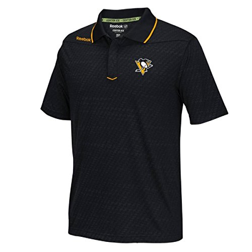 Reebok Pittsburgh Penguins Black Center Ice Synthetic Polo 2 (S) ()