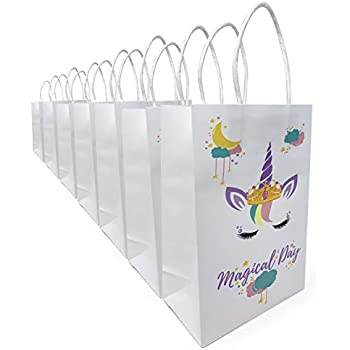Amazon.com: Sukonu Unicorn Party - Bolsas de papel decoradas ...