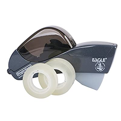 """Eagle Automatic Tape Dispenser and Tape Gun. Free 1/2"""" (12mm) and 3/4"""" (19mm). Ideal for Taping Gifts, Packages, Scrapbooks and Envelopes"""