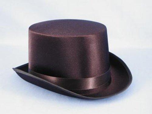 HMS Satin Top Hat, Black, One Size