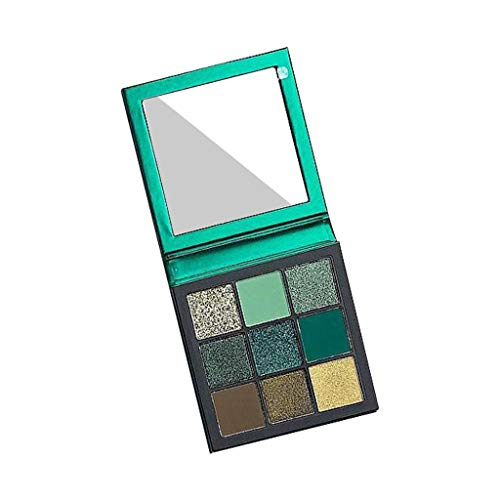 Londony Pigmented Matte and Shimmer 9 Colors Chunky Eyeshadow Palette Pop Colors Blendable Eye Shadow Powder Make Up