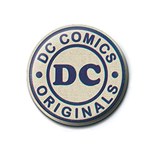 Genuine DC Comics DC Originals Logo Button Badge Pin Badge Retro Vintage from Pritties Accessories