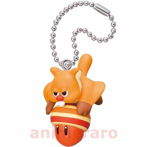 New Super Mario Bros.u Mascot Figure Keychain ~Flying Squirrel and Acorn (Super Mario Mascot)