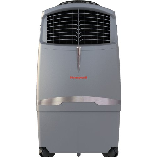 Honeywell CO30XE 525 CFM Indoor/Outdoor Portable Evaporative Air Cooler (Swamp Cooler) with Remove Control, Grey by Honeywell