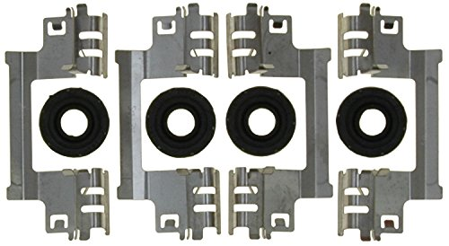 (ACDelco 18K2471 Professional Front Disc Brake Caliper Hardware Kit with Clips and Seals)