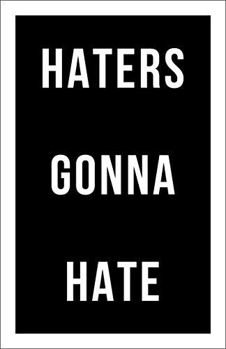 Damdekoli Haters Gonna Hate Motivational Poster, 11x17 Inches, Wall Art, Hustling, Entrepreneur Decoration, Inspirational Business Print -
