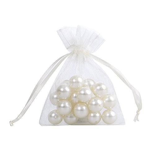 Ling's moment 3 x 4 Inch Sheer Organza Gift Candy Bags