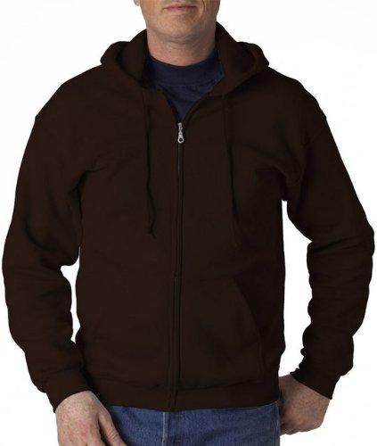 (Gildan Heavy Blend Adult Full-Zip Hooded Sweatshirt, Dark Chocolate, XXXXX-Large)