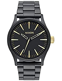 Nixon Men's Sentry A4501041 Black Stainless-Steel Quartz Watch