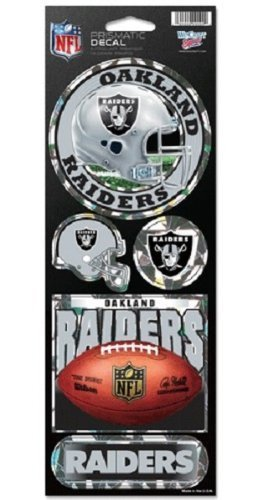 Price comparison product image Oakland Raiders Large 5 Pack of Holographic Stickers