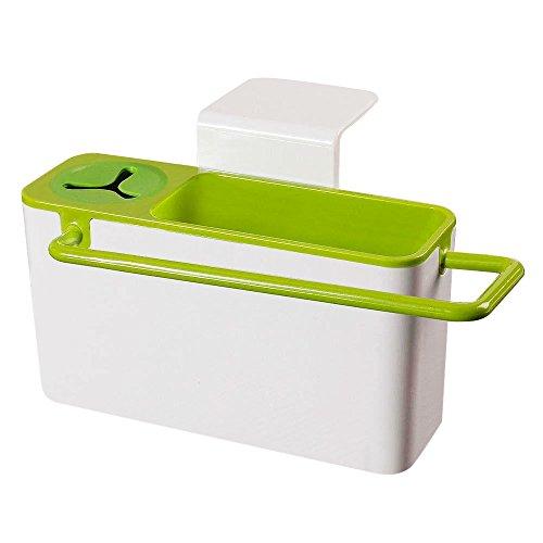 Sink Caddy,Sponge Scrubber Brush Holder Drainer,Plastic Storage Dry Rack Basket,Suction Sink Corner Organizer,Dish Soap Towel Shelving Rag Stand,Dewatering Rack for Kitchen Supplies Cleaning Utensils