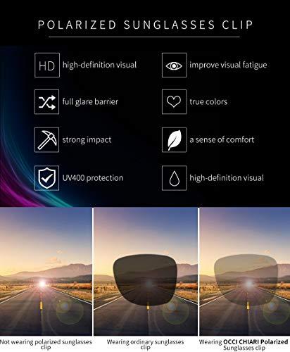 polarizado para UV tipo Apto metálico 400 gafas de clip clip clip sol de sol todo de Gafas CHIARI recetadas de OCCI Gafas anti rectangular BTAWY