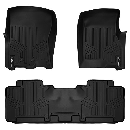 (SMARTLINER Floor Mats 2 Row Liner Set Black for 2011-2017 Ford Expedition/Lincoln Navigator (All Models Including EL and L))