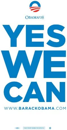 Amazon Com Pop Culture Graphics Barack Obama Yes We Can Campaign Poster 24 X 36 Home Kitchen