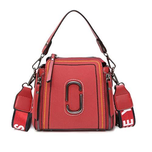 19cm10cm16cm Bucket Women's Bags Shoulder Tote Handbag Red Red Bag fZq160