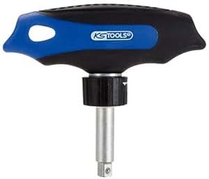 """KS Tools 151.1109 - Carraca con empuñadura en T, 45 dientes (tamaño: 1/4"""")"""