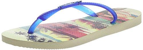 Paisage blue Havaianas Femme Tongs beige 8747 Multicolore Slim 8wAqwg