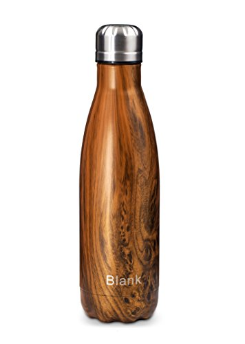 Blank Vacuum Insulated Water Bottle, Wood Bottle, Double Walled, 17oz, 500ml, Stainless Steel Water Bottle,