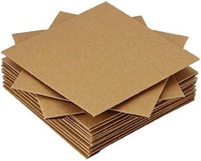 クラフト紙製 ケース 収納 CDペーパースリーブケース 整理 プレゼント クラフト紙50枚セット