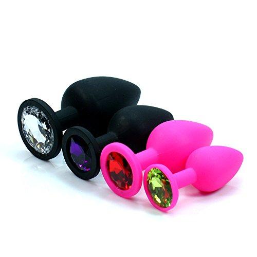 Texay(TM) Gay Jewelry Anal S-e-x Toys Silicone Anal Toys Diamond Butt Plug Insert Stopper UniS-e-x S-e-x Toys Anal Butt Plug Adult S-e-x Products