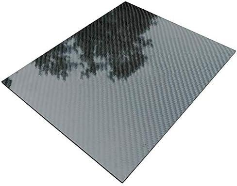 Dumadf Carbon-Faser-Platten, 3K Köperbindung aus 100% Carbon-Faser-Platte Panel-glänzende Oberfläche, 300x400mm,Thick0.5mm