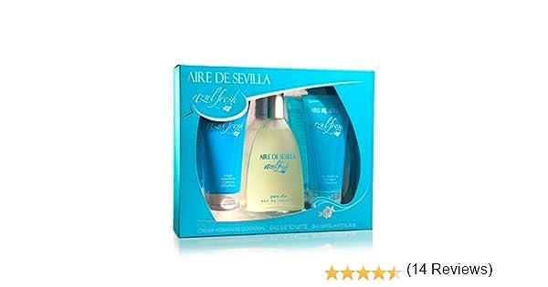 Aire de Sevilla Set de Belleza Edición Azul Fresh - Crema Hidratante Corporal, Eau de Toilette, Gel Exfoliante: Amazon.es: Belleza