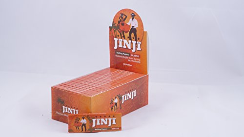 1 Box (50 Booklets) of Jinji Rolling Papers | Single Size 20gsm (68x36mm) -