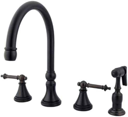 Kingston Brass Ks2795tlbs Tuscany 8 Kitchen Faucet With Brass