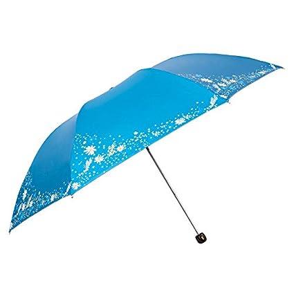 Paraguas plegable automatico Mujer niño Hombre an- Protección UV Triple de Peso Ligero - Paraguas