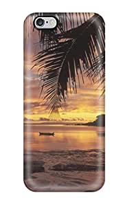Fashionable Style Case Cover Skin For Iphone 6 Plus- Beautiful Beach Sunset