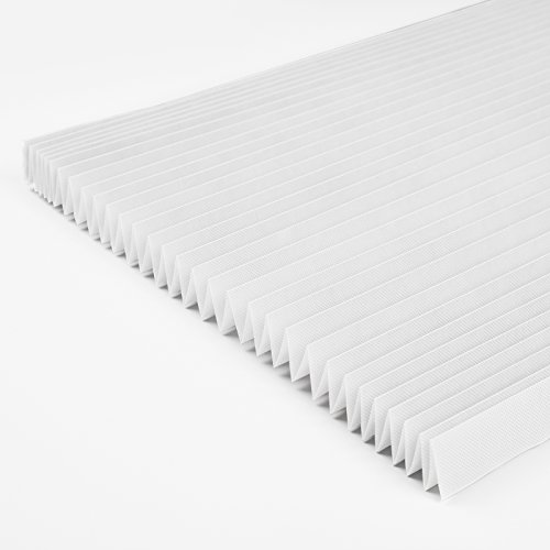 Sican Cordless Light Filtering Pleated Fabric Shade,Easy to Cut and Install, with 12 Clips (36″x72″ – 6 Pack, White)