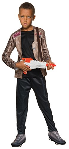 UHC Boy's Star Wars Finn Outfit Kids Theme Party Halloween Costume, M (8-10) (M Party Costumes)